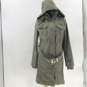 Active wear jacket army green canvas US 10